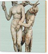 Aphrodite, Pan And Eros Wood Print