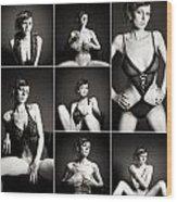 Erotic Beauty Collage 15 Wood Print