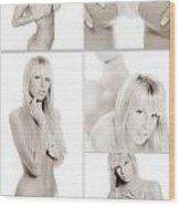 Erotic Beauty Collage 18 Wood Print