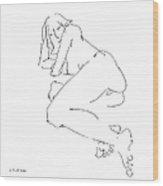 Erotic-female-drawings-21 Wood Print