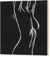 Erotic Girl Wood Print