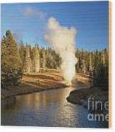Eruption Along The Riverside Wood Print