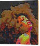 Erykah Badu Wood Print