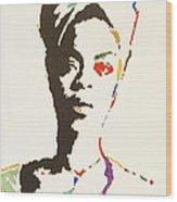 Erykah Badu Wood Print by Stormm Bradshaw