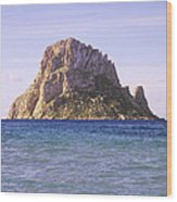 Es Vedra Rock Island Of Ibiza Wood Print