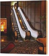 Escalator In The Brown Palace Wood Print
