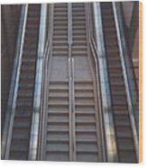 Escalator  Wood Print
