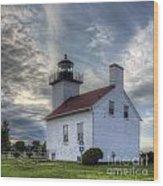 Escanaba Lighthouse Wood Print