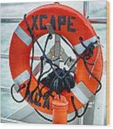 Escape To The Sea Wood Print