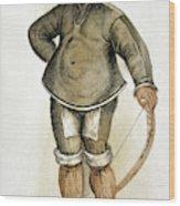 Eskimo Man Wood Print
