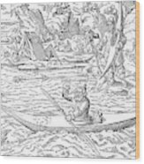 Eskimos Hunting, 1580 Wood Print