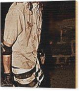 Esp Escaped Prisoner Zombie Wood Print