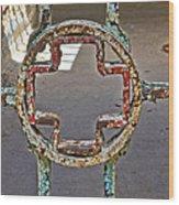 Esp Gate Cross Wood Print