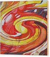 Espiral De Colores Wood Print