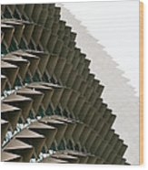 Esplanade Theatres Roof 10 Wood Print