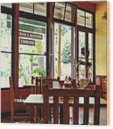 Espresso - Aloha Angel Cafe Wood Print