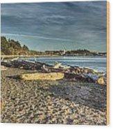 Esquimalt Lagoon - Logs And Beach Wood Print