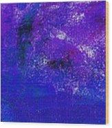 Essay Star Blue Purple Wood Print