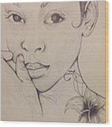 Essence Of A Woman Wood Print