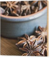 Essence Of Aniseed Wood Print by Anne Gilbert