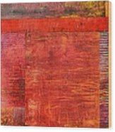 Essence Of Red Wood Print by Michelle Calkins