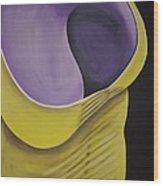 Essence Of Violet Wood Print