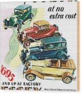 Essex Challenger Vintage Poster Wood Print