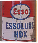 Esso Can Wood Print