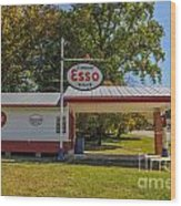 Esso Dealer Wood Print