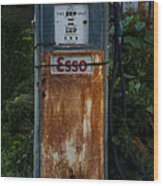 Esso Gas Pump Wood Print