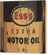 Esso Motor Oil Can Wood Print