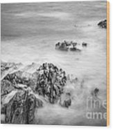 Estacas Beach Galicia Spain Wood Print