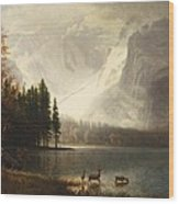 Estes Park Colorado Whytes Lake Wood Print