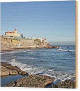 Estoril Coastline In Portugal Wood Print