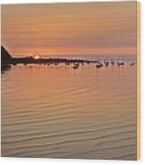 Estruary Harbour Sunset Wood Print
