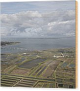 Estuary Of The Seudre, La Tremblade Wood Print