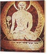 Etched Buddha  Wood Print