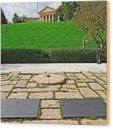 Eternal Flame At Kennedy Resting Place Wood Print