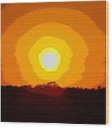 Eternal Sun - Amazing Sunset Photograph - Painting Like Wood Print