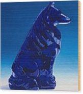 Eternally Blue Wood Print