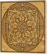 Eternity Mandala Leather Wood Print
