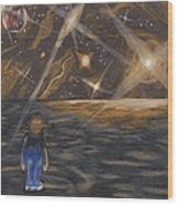 Etestska Lying On Pluto Wood Print