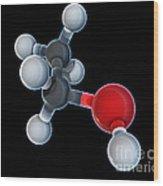 Ethanol Molecular Model Wood Print