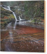 Ethereal Autumn Square Wood Print