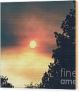 Ethereal Sunset Wood Print