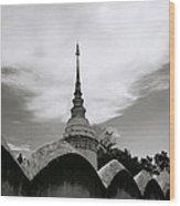 Ethereal Wat Suan Dok Wood Print