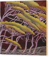 Ethereal Winds Wood Print