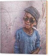Ethiopian Boy Wood Print