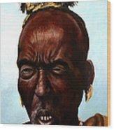 Ethiopian Elder 3 Wood Print