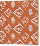 Ethnic Window Wood Print by Susan Claire